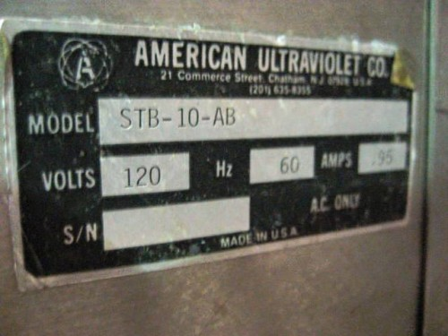 American Ultraviolet Co. Tank Filters.
