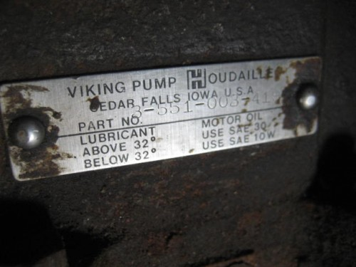 Viking Pump Gear Reducer.
