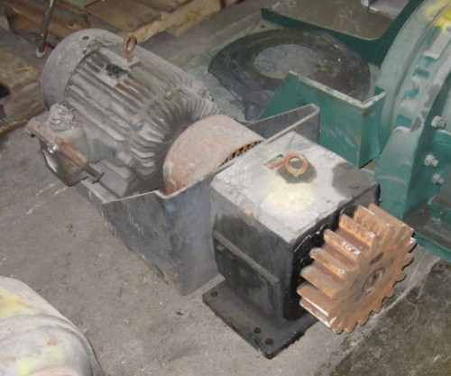 with motor and pinion gear