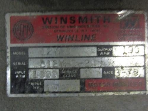 10 hp Winsmith Gear Reducer