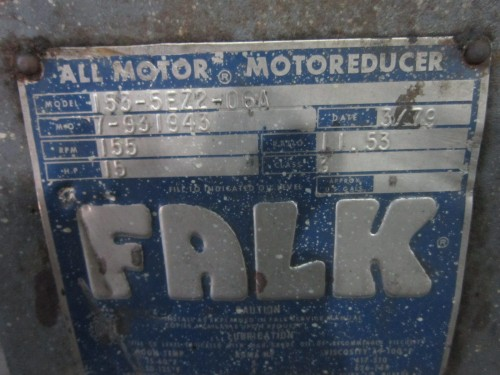 15HP Falk Gear Reduced Drive