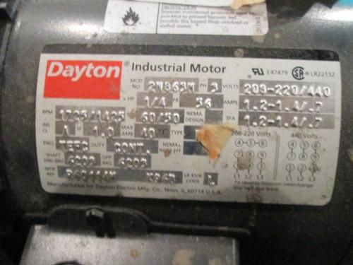 1 4 Hp Dayton Electric Motor 1725 1425 Rpm Tefc