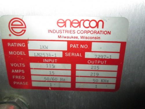 Enercon Induction Cap Sealer.
