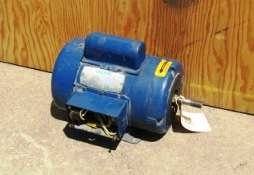 2 Hp Leeson Electric Motor 3450 Rpm Threaded Shaft For