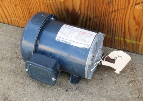 1 6 hp ge electric motor single phase 1140 rpm for Large single phase motors