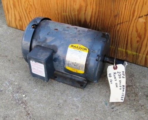 2 hp baldor electric motor 1725 rpm frame 145t for 2 hp electric motor 1725 rpm