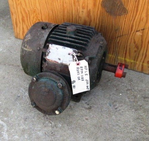 1 5 hp reliance electric motor 1155 rpm type p for 1 5 hp electric motor