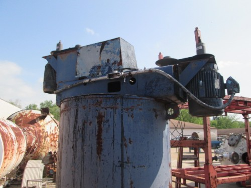 500 gallon Dual Shaft Disperser Mixer with Tank