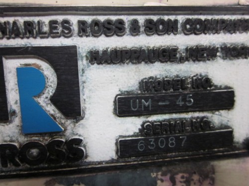 45 liter Ross Horiz. Media Mill