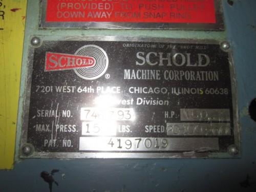 60 hp Schold High Speed Co-axial Disperser