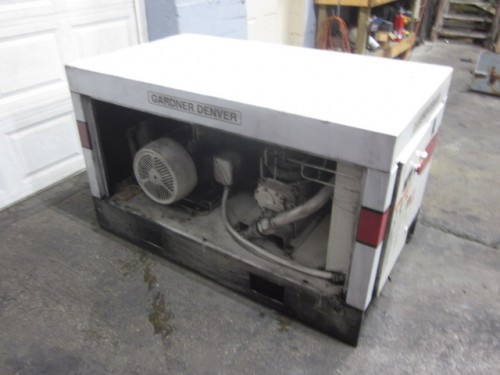 15 hp Gardner Denver Rotary Screw Air Compressor.