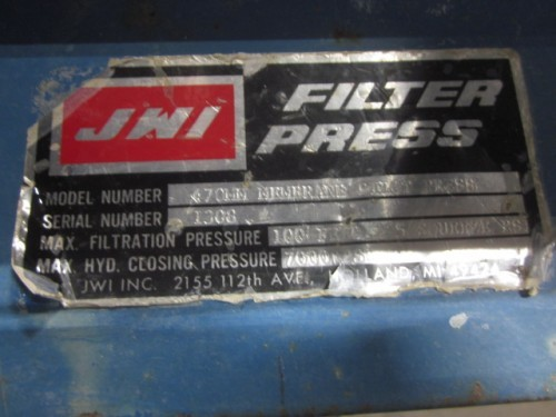 470 mm JWI Filter Press
