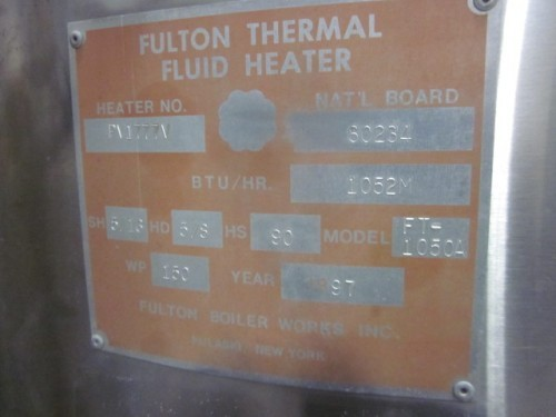 used Fulton Hot Oil Heater