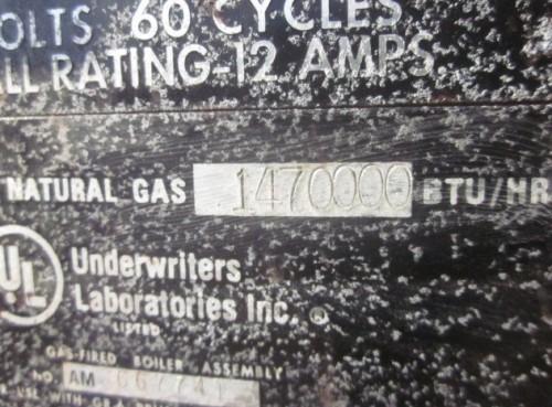 35 ton Columbia Package Boiler