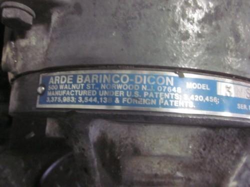 used Arde Barinco Dicon Inline Dispersing Grinder Homogenizer