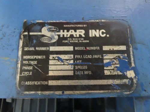 30 hp Shar high Speed Disperser