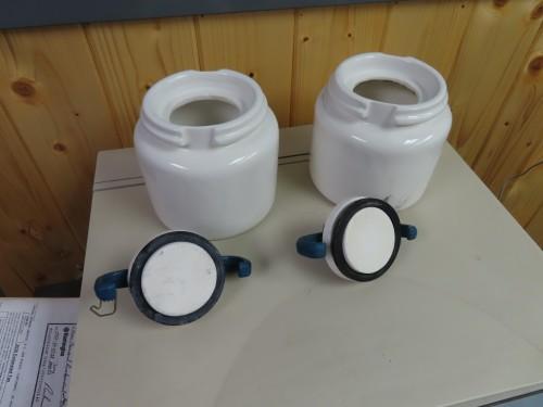 US Stoneware Roller Jars