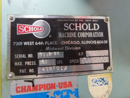 60 hp Schold Co-axial High Speed Disperser