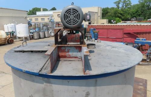 2500 gallon stainless steel mix tank