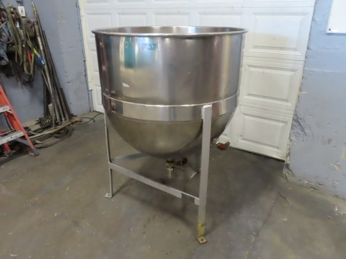 125 gallon stainless steel jacketed kettle