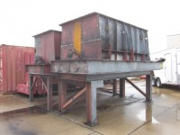210 cu ft Sprout Waldron Double Ribbon Blender, jacketed.