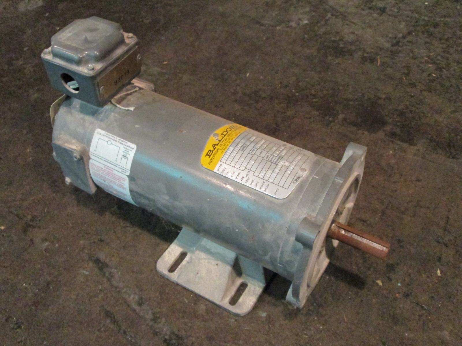 1 2 hp baldor electric motor 1750 rpm for One horsepower electric motor