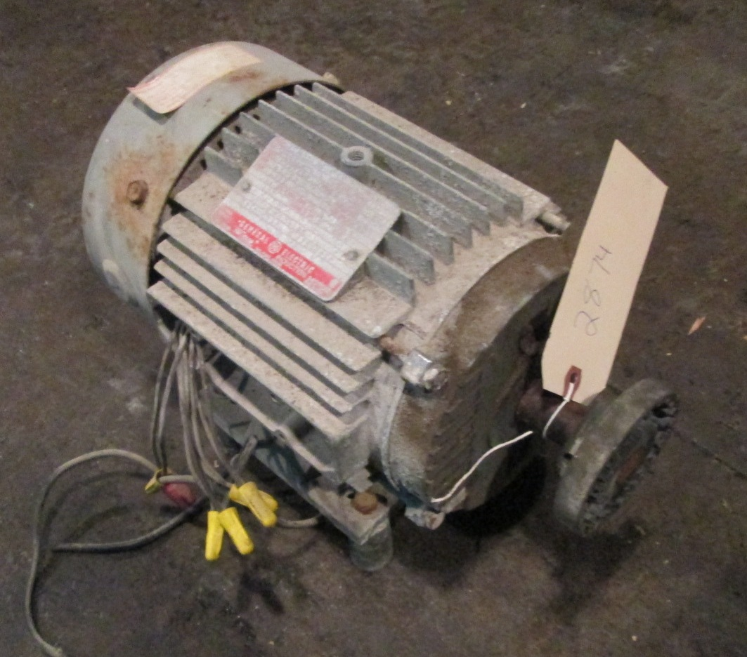 2 Hp General Electric Electric Motor 1725 Rpm