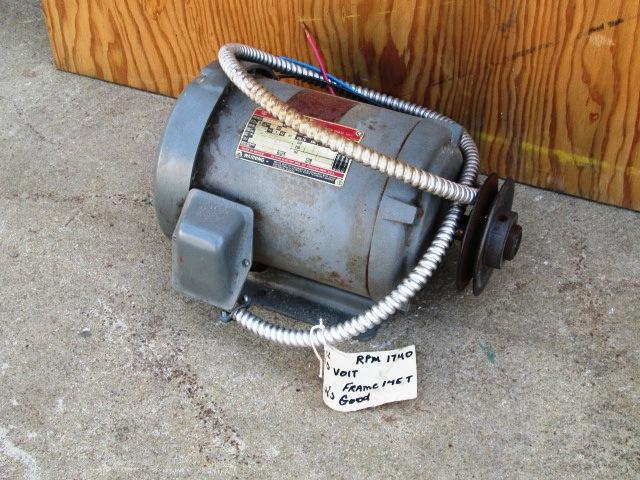 2 Hp Dayton Tri Volt Electric Motor