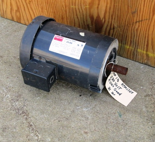 1 5 hp dayton industrial electric motor 1725 rpm for Used industrial electric motors