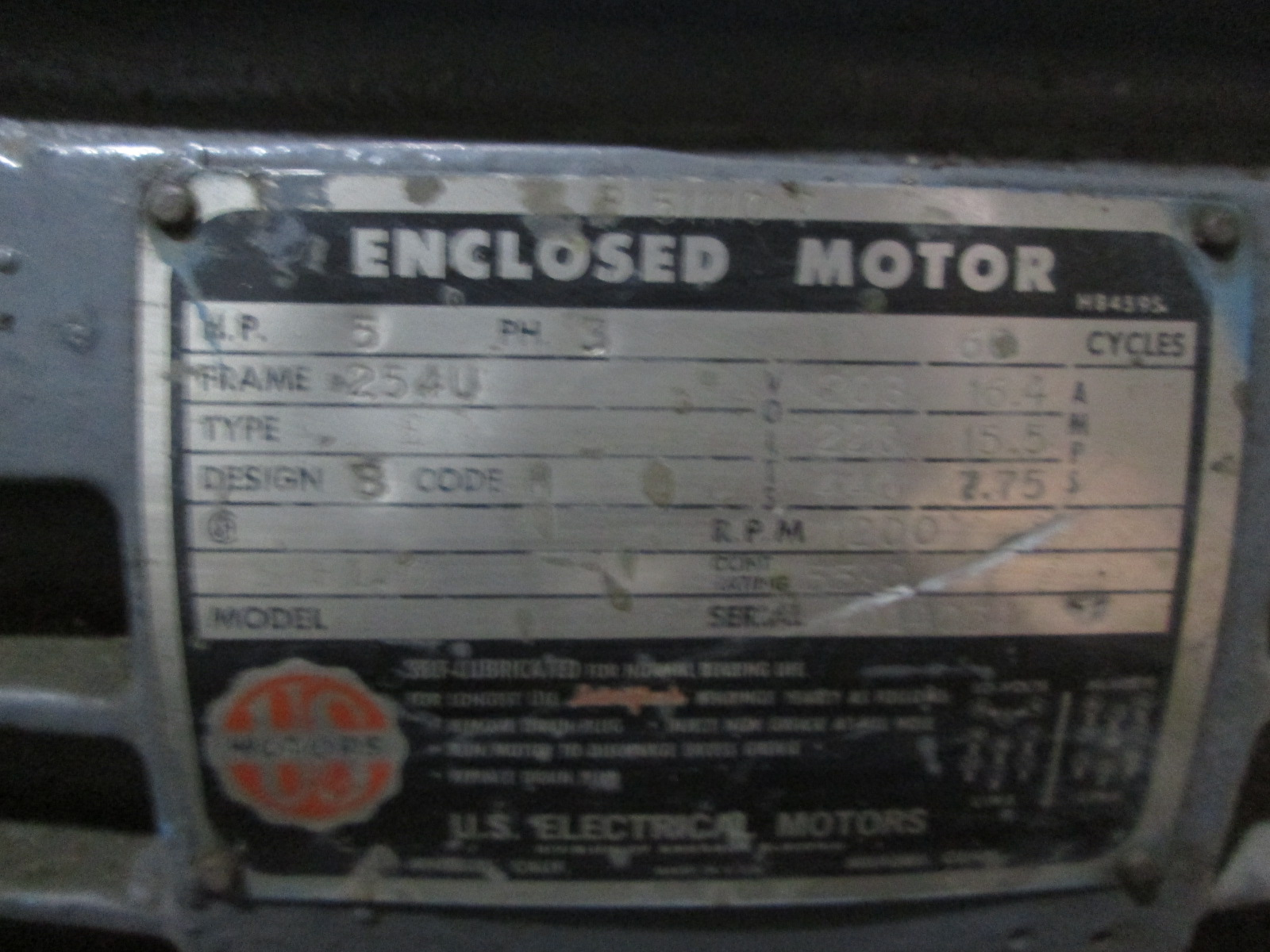 5 hp us motors electric motor for 5 hp motor specification