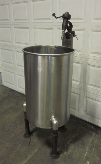 One 1 Used 50 Gallon Stainless Steel Tank